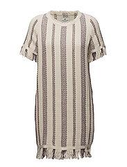 Baha Woven Fringe Dress - MULTI STRIPE