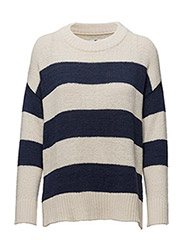 Amber Lee Sweater - BLUE/WHITE STRIPE