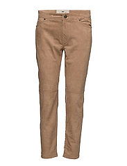 Caileigh Suede Pants - CAMEL