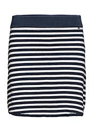 Chastity Knitted Skirt - BLUE/WHITE STRIPE