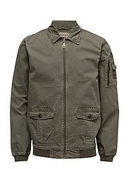 Layton Pilot Jacket - OLIVE NIGHT