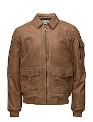 Layton Pilot Leather Jacket - COGNAC