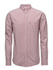 Taylor Poplin Shirt - RED/WHITE CHECK