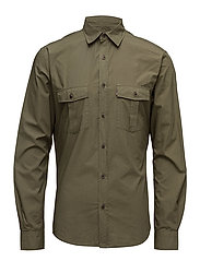 Norman Cargo Shirt - OLIVE NIGHT