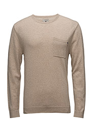 Jeff Crewneck Sweater  1 - SAFARI BEIGE