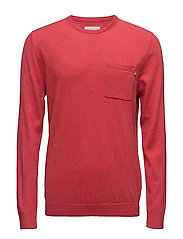 Jeff Crewneck Sweater 2 - CRANBERRY RED