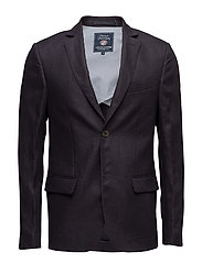 Jason Linen Jacket - DEEP MARINE BLUE