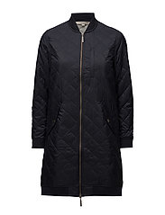 Liv Quilted Long Jacket - DEEP MARINE BLUE