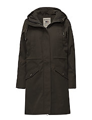 Vera Nylon Parka - HUNTER GREEN