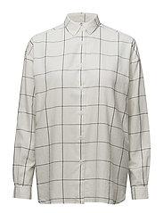 Edith Lt Oxford Shirt 2 - WHITE/BLUE CHECK
