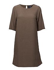Grace Dress - PINE BARK BROWN