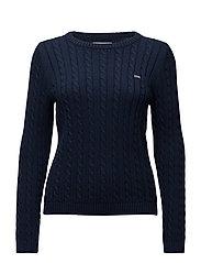 Felizia Cable Sweater - DRESS BLUE