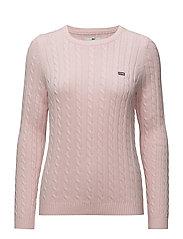 Felizia Cable Sweater - LIGHT PINK