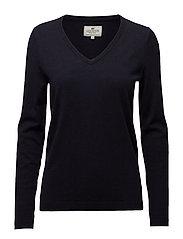 Madaleine V-neck Sweater - DEEP MARINE BLUE