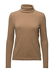 Francoise Roll Neck Sweater - CHIPMUNK BROWN