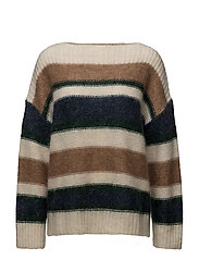 Therese Mohair Sweater - MULTI STRIPE