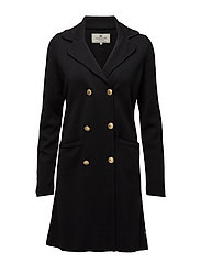 Hollie Long Knit Blazer - CAVIAR BLACK