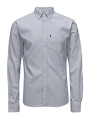 Kyle Oxford Shirt - BLUE/WHITE STRIPE