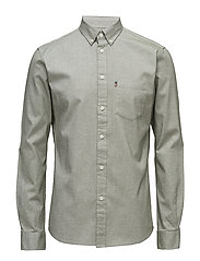 Kyle Oxford Shirt - CHIVE GREEN
