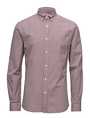 Taylor Poplin Shirt 2 - RED/WHITE CHECK
