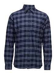 Tommy Flannel Shirt - BLUE MULTI CHECK