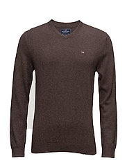 Nicholas V-Neck Sweater - JAVA BROWN
