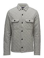 Bruce Quilted Jersey Jacket - HEATHER GRAY MELANGE