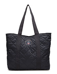 Kinner Quilted Tote - DEEP MARINE BLUE