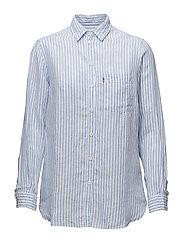 Isa Linen Shirt - Blue/White Stripe