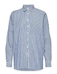 Sophia Cotton Shirt - Blue/White Stripe