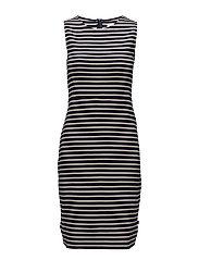 Nellie Tubular Dress - Blue/White Stripe