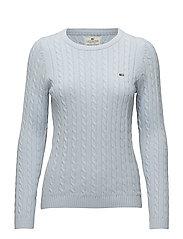 Felizia Cable Sweater - Light Blue