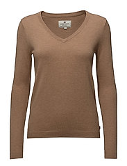 Madaleine V-neck Sweater - Camel