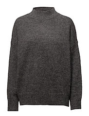 Laila Mohair Sweater - Heather Gray Melange