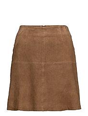 Kylie Suede Skirt - Hazelnut Brown