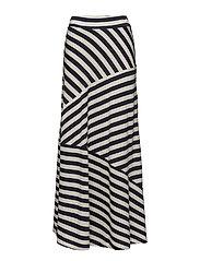 Joelle Jersey Skirt - Blue/White Stripe