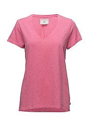 Alina V-neck Tee - Chateau Rose Pink
