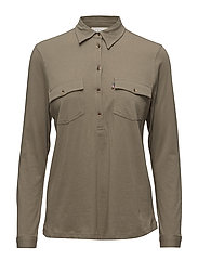 Olivia Jersey Shirt - Savanna Green