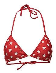 Stephanie Bikini Top - Red Star Print