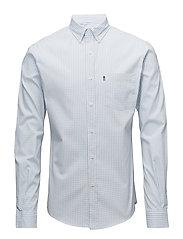 Peter Lt Oxford Shirt - Lt Blue/White Check