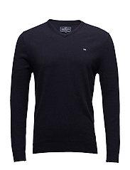 Nicholas V-Neck Sweater - Deep Marine Blue