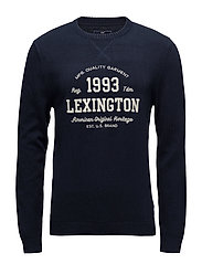 Nelson Knitted Sweatshirt - Deepest Blue