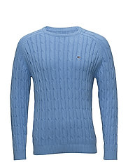Andrew Cotton Cable Sweater - Marina Blue