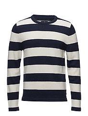 Lincoln Striped Sweater - Blue/White Stripe