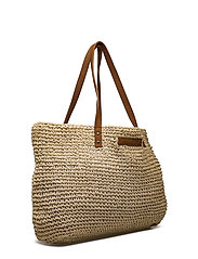 Riverside Paper Straw Bag - Beige