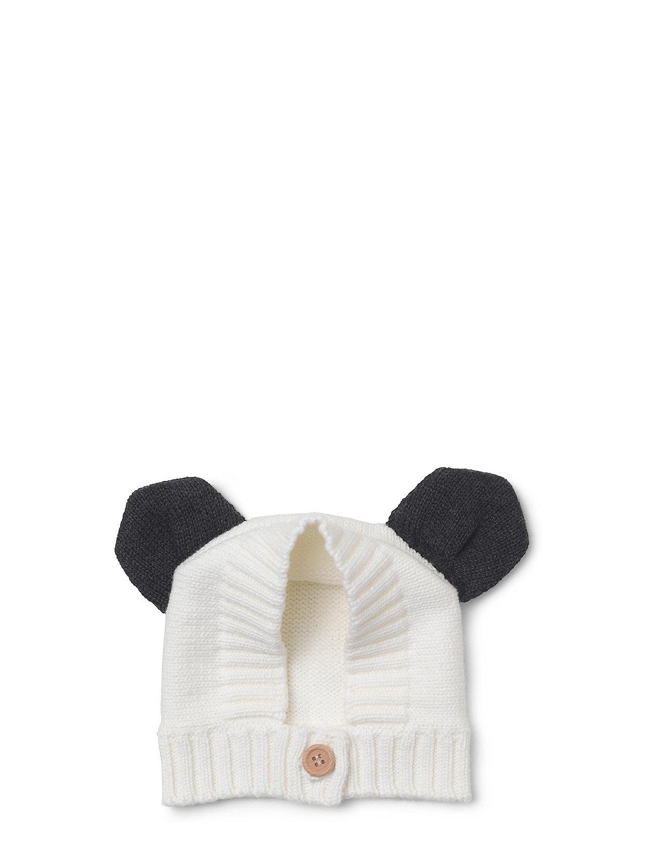 Knit Baby Hat Panda Liewood Hatte & Caps til Børn i Grey Melange