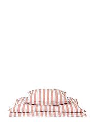 Bedding Y/D Stripe - CORAL PINK