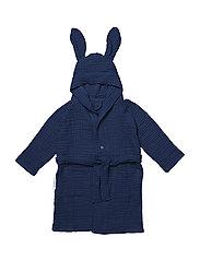 Dana muslin bath robe rabbit - NAVY