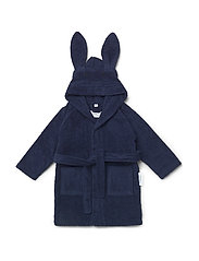 Lily bath robe rabbit - NAVY