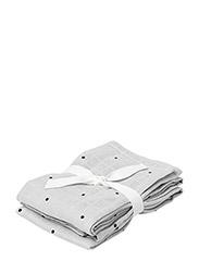 Hannah muslin cloth 2 pack - DUMBO GREY